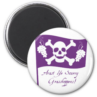 St. Urho's Pirate Flag Magnets
