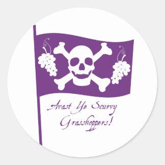 St. Urho's Pirate Flag Stickers