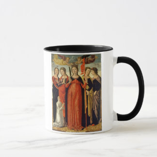 St. Ursula and Four Saints (tempera on panel) Mug