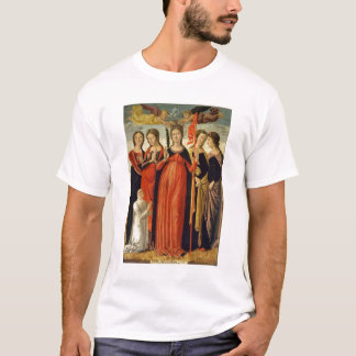 St. Ursula and Four Saints (tempera on panel) T-Shirt