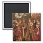St. Ursula and Prince Etherius 2 Inch Square Magnet