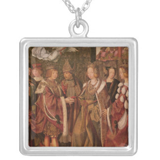 St. Ursula and Prince Etherius Silver Plated Necklace
