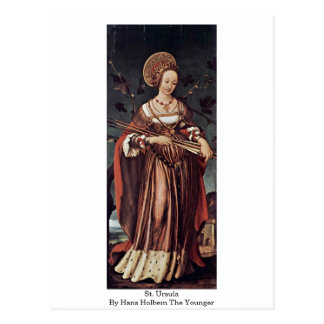 St. Ursula By Hans Holbein The Younger Postcard