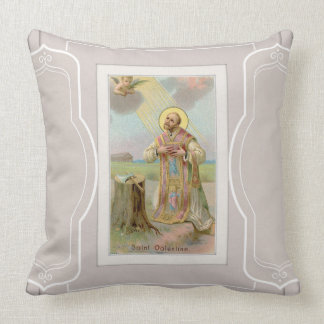 St. Valentine Bishop Angel Axe Throw Pillow