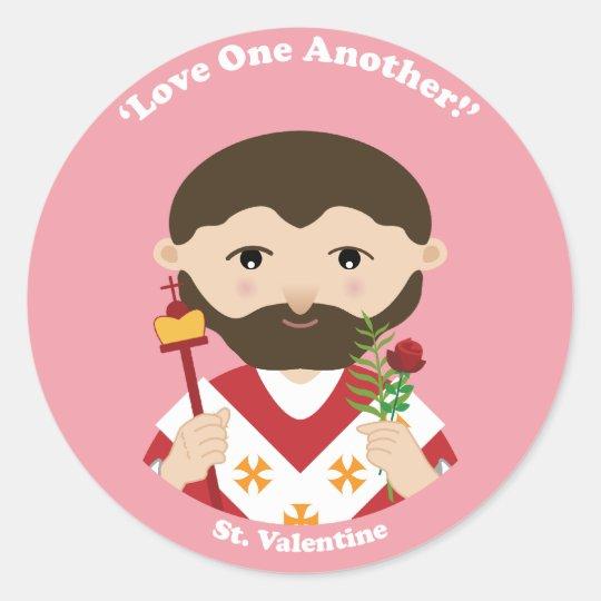 St. Valentine Classic Round Sticker