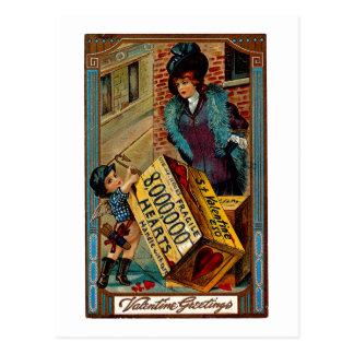 St Valentine Crate Postcard