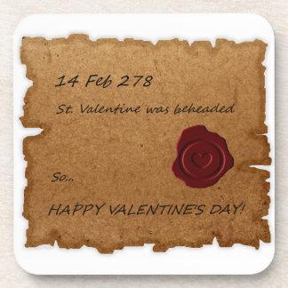 St. Valentine Historical Paper Stamped Drink Coaster