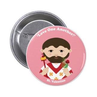 St. Valentine Pinback Button