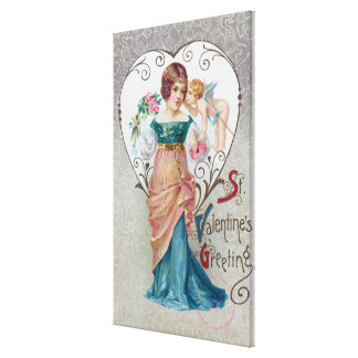 St Valentine s Greeting Cupid Gallery Wrapped Canvas