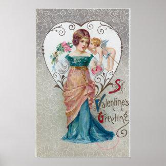 St Valentine s Greeting Cupid Print