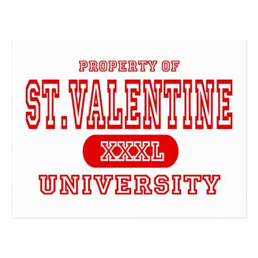 St. Valentine University Postcard