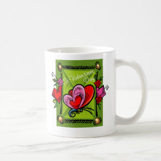 St Valentine's day 2 -- Green 2 Classic White Coffee Mug
