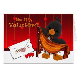 St.Valentine's Day Card, Valentine Penguin Hearts Card