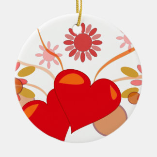 St. Valentine's day Ceramic Ornament