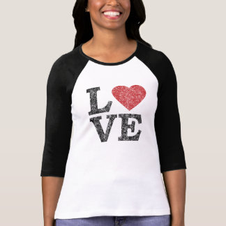 St Valentines Day LOVE With Heart T Shirt