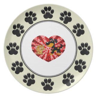 St. Valentine's Day Melamine Plate