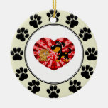 St. Valentine's Day Double-Sided Ceramic Round Christmas Ornament
