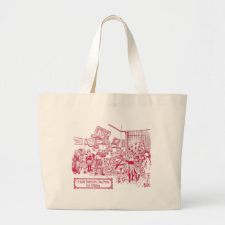 St. Valentine's Day Party for Children 1900 illust Large Tote Bag
