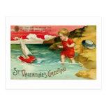 St. Valentine's Greeting (4) Postcard