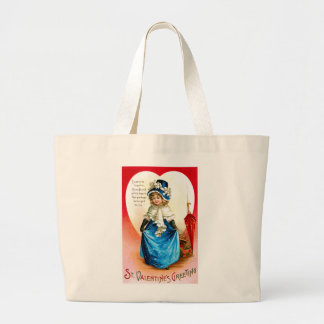 St. Valentine's Greeting Large Tote Bag