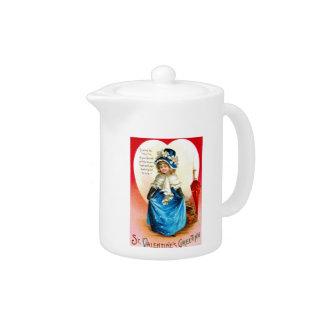 St. Valentine's Greeting Teapot