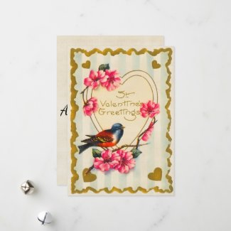 St Valentines Greetings Holiday Card