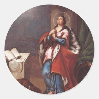 St. Varvara (Barbara)  by Vladimir Borovikovsky Classic Round Sticker