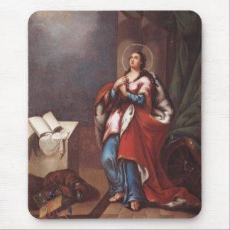 St. Varvara (Barbara)  by Vladimir Borovikovsky Mouse Pad