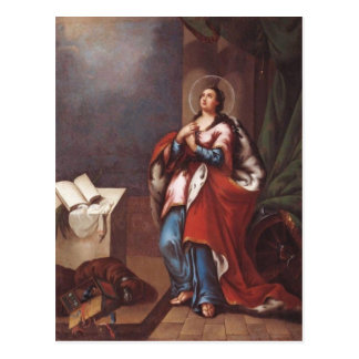 St. Varvara (Barbara)  by Vladimir Borovikovsky Postcard