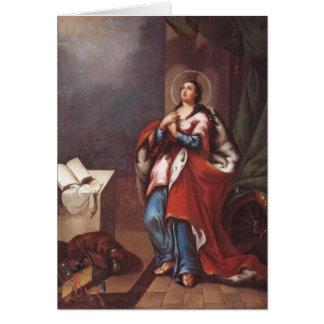 St. Varvara (Barbara) por Vladimir Borovikovsky Tarjeta De Felicitación