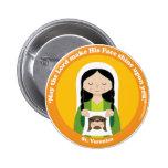 St. Veronica 2 Inch Round Button