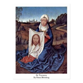 St. Veronica By Hans Memling Postcard
