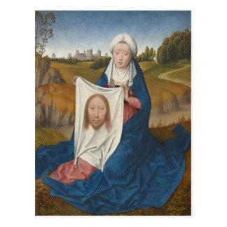 St Veronica c 1470-1475 oil on panel Post Card