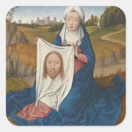 St. Veronica, c.1470-1475 (oil on panel) Square Sticker