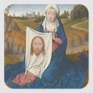 St. Veronica, c.1470-1475 (oil on panel) Square Sticker