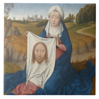 St. Veronica, c.1470-1475 (oil on panel) Tile
