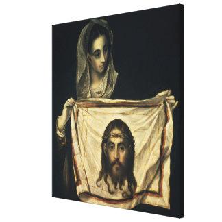 St.Veronica con la cubierta santa Impresiones En Lienzo Estiradas