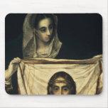 St.Veronica con la cubierta santa Mouse Pad