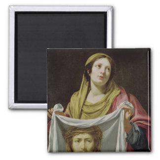St. Veronica Holding the Holy Shroud Fridge Magnet
