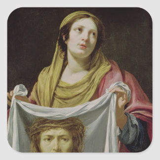 St. Veronica Holding the Holy Shroud Square Sticker