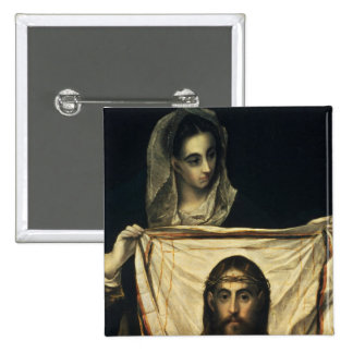 St.Veronica with the Holy Shroud 2 Inch Square Button