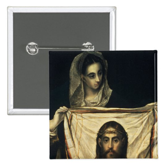 St.Veronica with the Holy Shroud Pinback Button