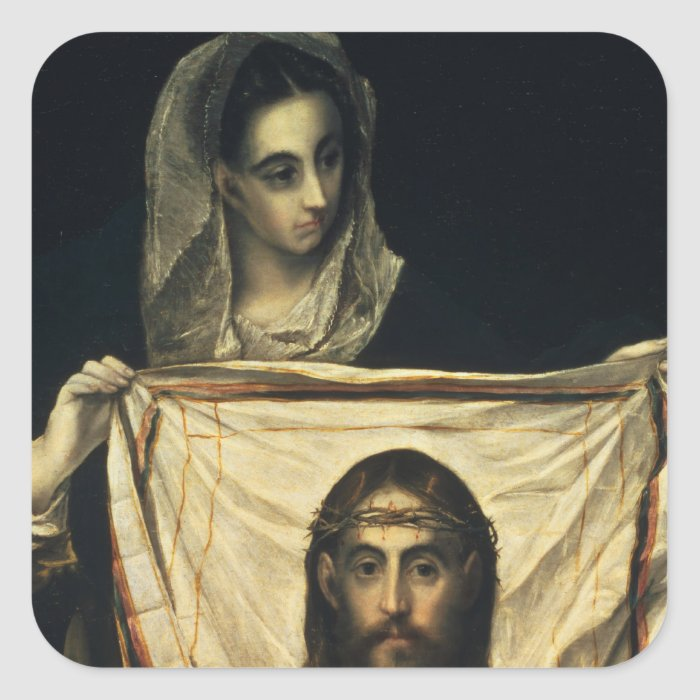 St.Veronica with the Holy Shroud Square Sticker