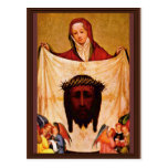 St. Veronica With The Shroud Of Christ. By Meister Postcard