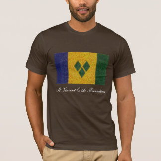 St Vincent and the Grenaadines flag Van Gogh style T-Shirt