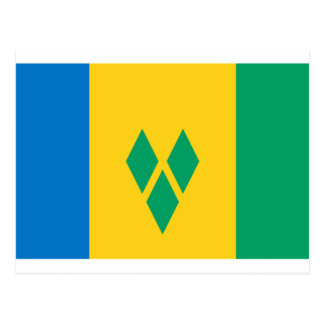 St Vincent and the Grenadines Flag Postcard