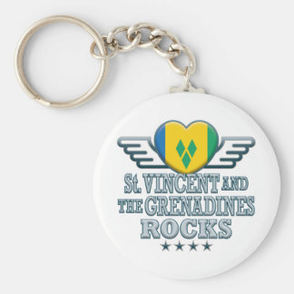 St. Vincent and The Grenadines Rocks v2 Keychain