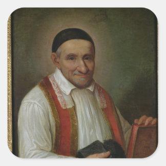 St. Vincent de Paul 1649 Pegatina Cuadrada
