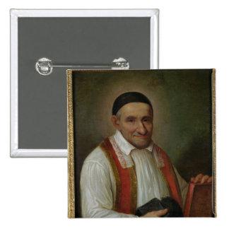 St. Vincent de Paul 1649 Pin Cuadrado