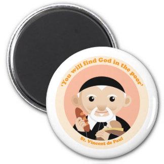 St. Vincent de Paul 2 Inch Round Magnet
